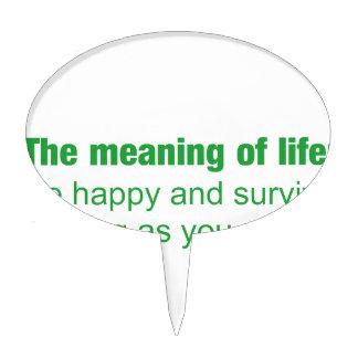 Significado de la vida - sea feliz y sobreviva figura de tarta