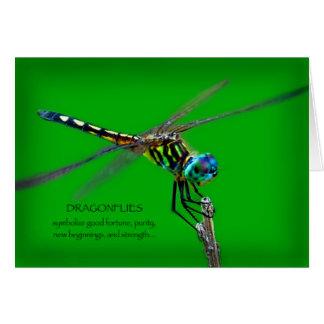 Significado de libélulas tarjeta de felicitación