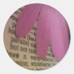 Significado definido amor de los pegatinas etiquetas redondas