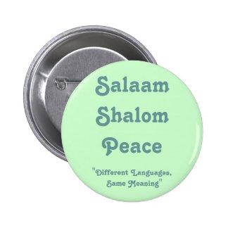 Significado del botón de la paz pin redondo de 2 pulgadas