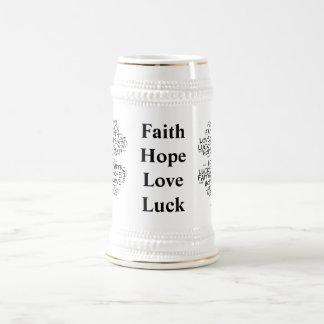 Significado del trébol de cuatro hojas: Esperanza, Jarra De Cerveza