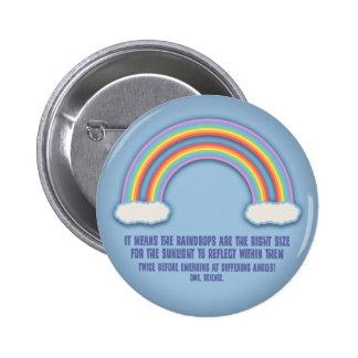 Significado doble del arco iris pin redondo de 2 pulgadas