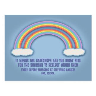 Significado doble del arco iris tarjetas postales