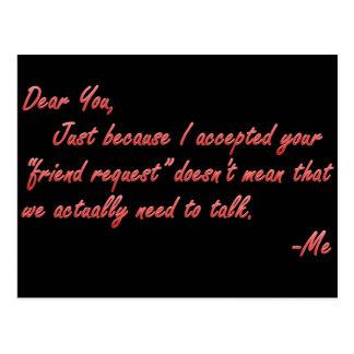 Significado verdadero de la amistad tarjetas postales