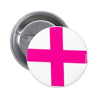 Significados cruzados rosados del múltiplo del sím pin redondo de 2 pulgadas