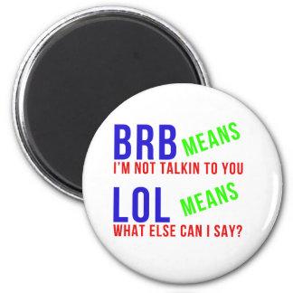 Significados divertidos de LOL BRB Iman