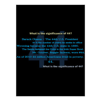 Significance of 44 Poster