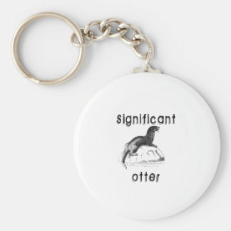 Significant Otter Basic Round Button Keychain