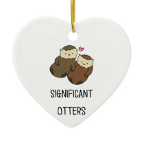 SIGNIFICANT OTTERS couple's shirts, accessories Ceramic Ornament