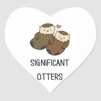 SIGNIFICANT OTTERS couple's shirts, accessories Heart Sticker