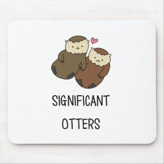 SIGNIFICANT OTTERS couple's shirts, accessories Mouse Pad