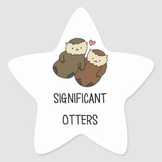 SIGNIFICANT OTTERS couple's shirts, accessories Star Sticker