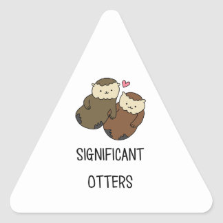 SIGNIFICANT OTTERS couple's shirts, accessories Triangle Sticker