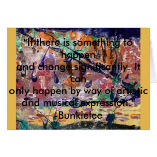 Significate, cambio con el arte y la música, tarjeta de felicitación