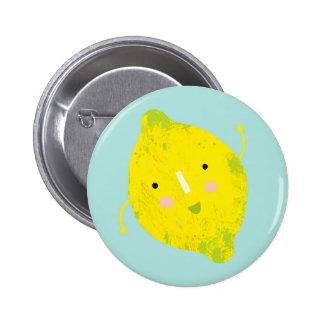 signing lemon pinback button