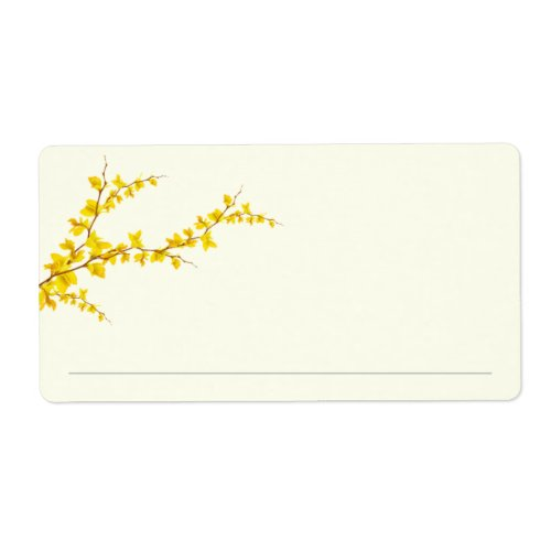 Signing Line  Little Yellow Flower Bookplate