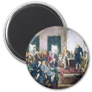 Signing of the Constitution by Howard C. Christy 2 Inch Round Magnet
