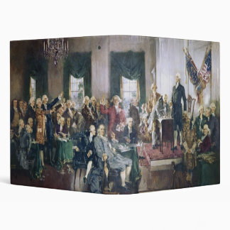 Signing of the Constitution by Howard C. Christy 3 Ring Binder