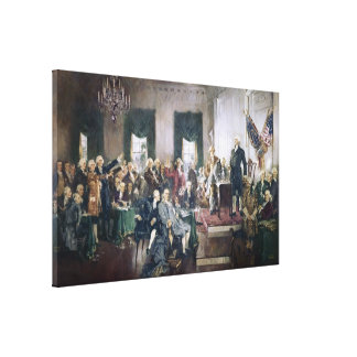 Signing of the Constitution by Howard C Christy Gallery Wrap Canvas