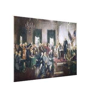 Signing of the Constitution by Howard C Christy Canvas Print