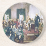 "Signing of the Constitution by Howard C. Christy Drink Coaster<br><div class=""desc"">Signing of the Constitution by Howard Chandler Christy Sign up to Mr. Rebates for FREE and save 12% on any zazzle order in addition to a $5.00 sign up bonus All Rights Reserved; without: prejudice, recourse or notice (U.C.C. 1-308) http://www.aoc.gov/cc/photo-gallery/sign_const.cfm constitution &quot;signing of the constitution&quot; &quot;howard c. christy&quot; &quot;howard chandler...</div>"