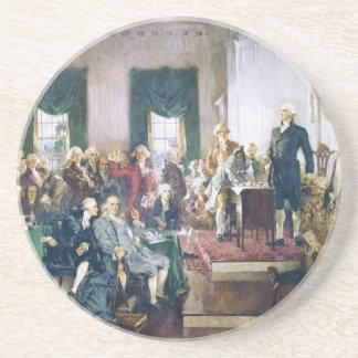 Signing of the Constitution by Howard C. Christy Drink Coaster