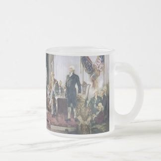 Signing of the Constitution by Howard C. Christy Frosted Glass Coffee Mug