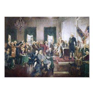 Signing of the Constitution by Howard C. Christy Custom Invite