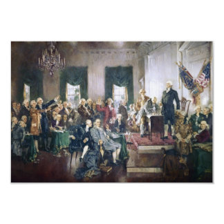 Signing of the Constitution by Howard C. Christy Personalized Invitation