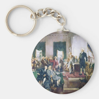 Signing of the Constitution by Howard C. Christy Keychain