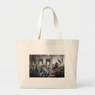Signing of the Constitution by Howard C. Christy Large Tote Bag