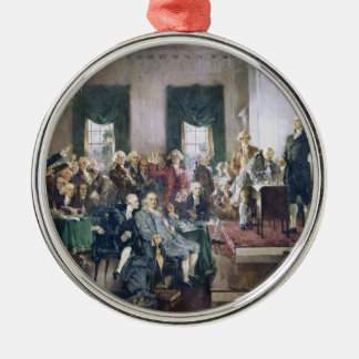 Signing of the Constitution by Howard C. Christy Metal Ornament
