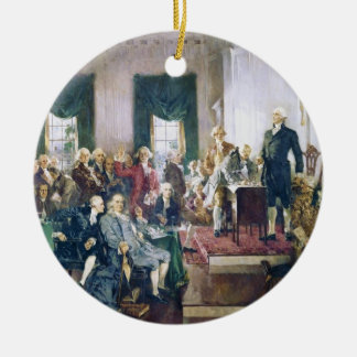 Signing of the Constitution by Howard C Christy Christmas Tree Ornaments