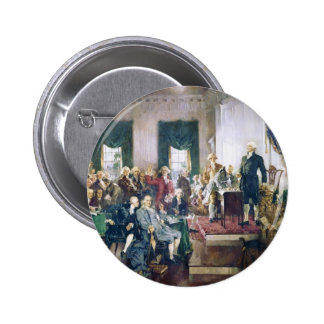 Signing of the Constitution by Howard C. Christy Pinback Button