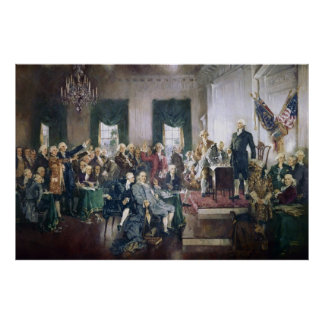 Signing of the Constitution by Howard C. Christy Poster