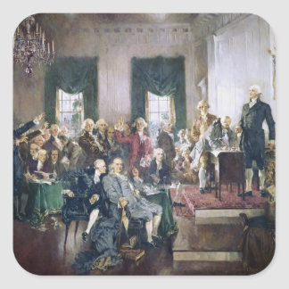 Signing of the Constitution by Howard C. Christy Square Sticker