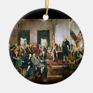 Signing of the Constitution Ceramic Ornament