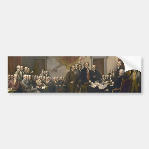 Signing of the Declaration of Independence Car Bumper Sticker