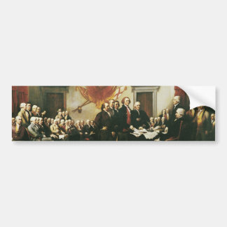 SIGNING OF THE DECLARATION OF INDEPENDENCE BUMPER STICKER