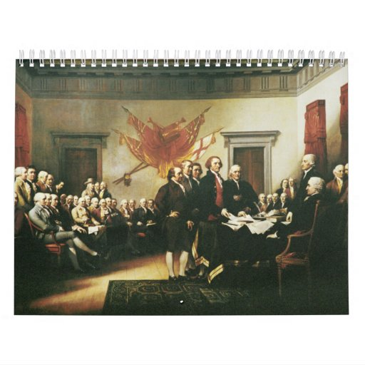 SIGNING OF THE DECLARATION OF INDEPENDENCE WALL CALENDAR