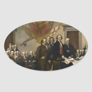 Signing of the Declaration of Independence Oval Sticker