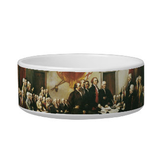 SIGNING OF THE DECLARATION OF INDEPENDENCE PET FOOD BOWLS