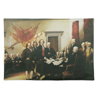 SIGNING OF THE DECLARATION OF INDEPENDENCE CLOTH PLACEMAT