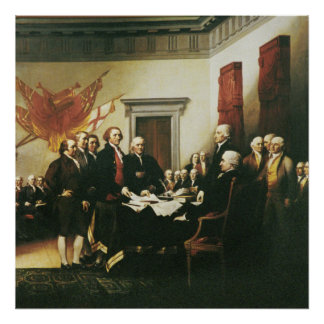 SIGNING OF THE DECLARATION OF INDEPENDENCE POSTER