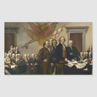 Signing of the Declaration of Independence Rectangular Sticker