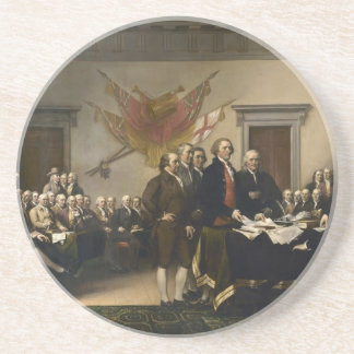 Signing of the Declaration of Independence Sandstone Coaster