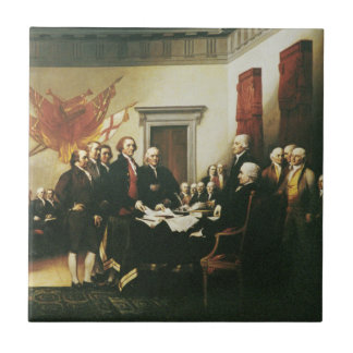 SIGNING OF THE DECLARATION OF INDEPENDENCE SMALL SQUARE TILE