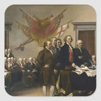 Signing of the Declaration of Independence Square Sticker