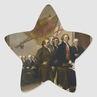 Signing of the Declaration of Independence Star Sticker