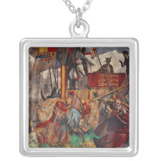 Signing of the Magna Carta, 1215 Silver Plated Necklace